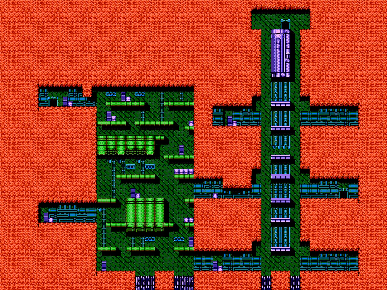 Bionic Comando NES-Map-Area1-2