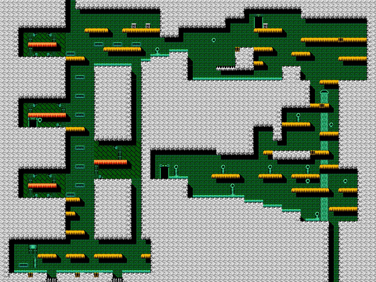 Bionic Comando NES-Map-Area2-2