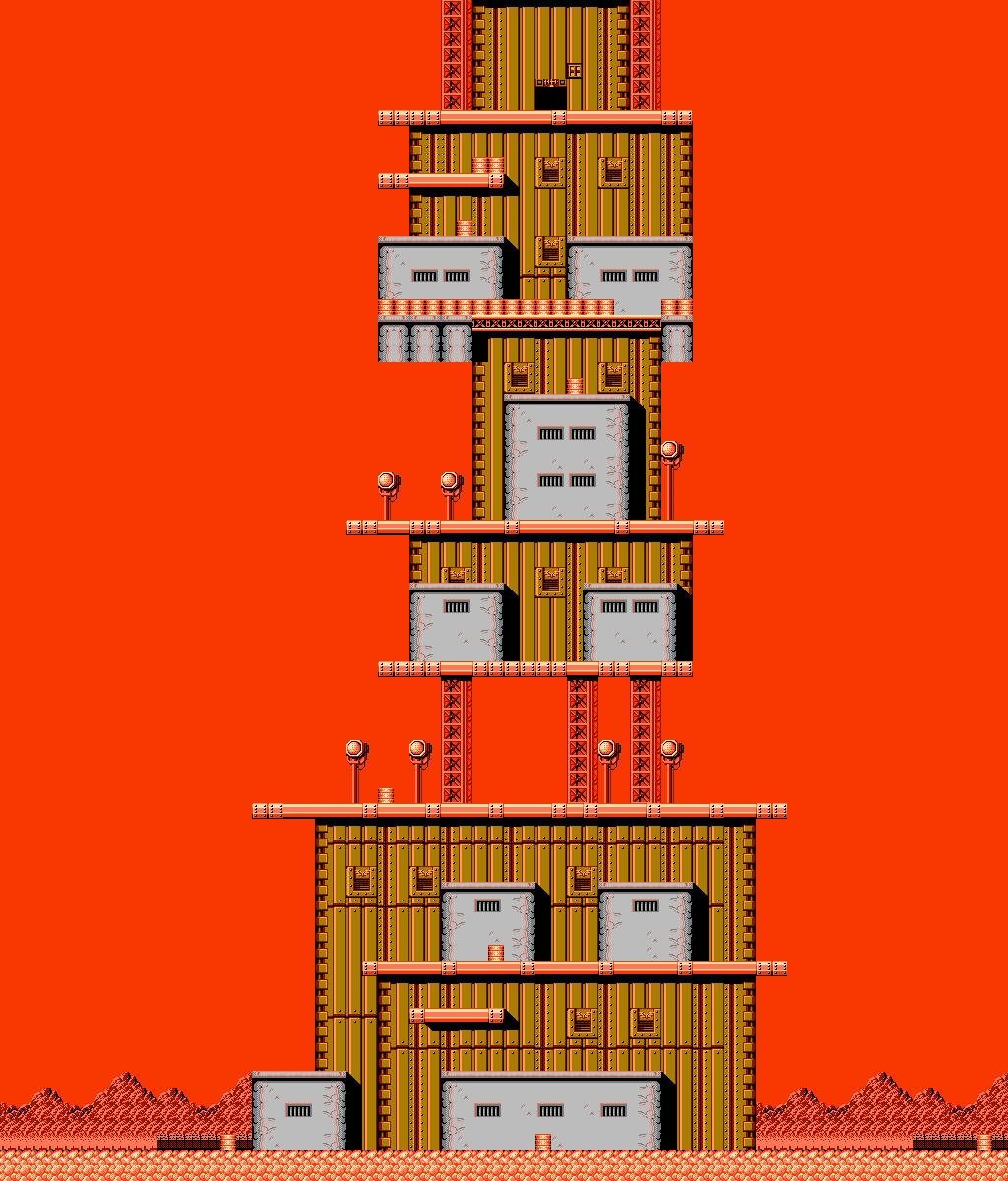 Bionic Comando NES-Map-Area5-1