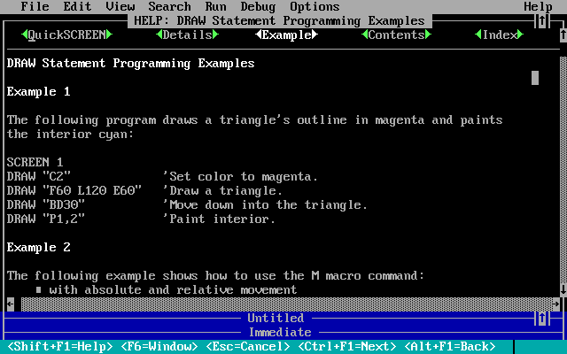 File:QuickBASIC - DOS - Screenshot - Help.png