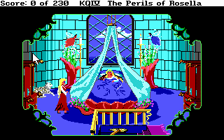 King's Quest IV - DOS - Screenshot - Genesta's Bedroom.png