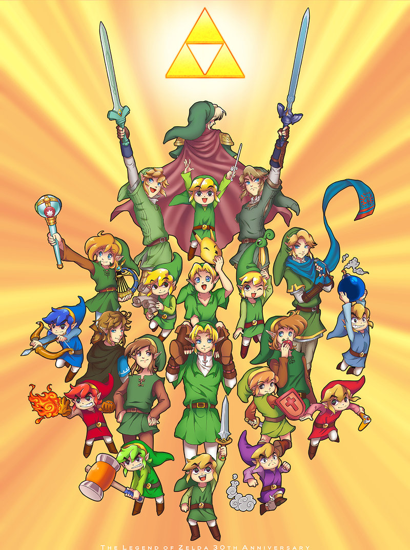 Filelegend Of Zelda Many Linksjpg Thealmightyguru