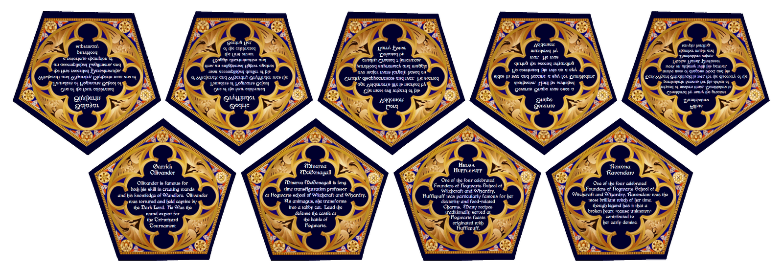 graphic relating to Harry Potter Chocolate Frog Cards Printable titled Record:Harry Potter - Sweet - Chocolate Frog Playing cards - Again.png