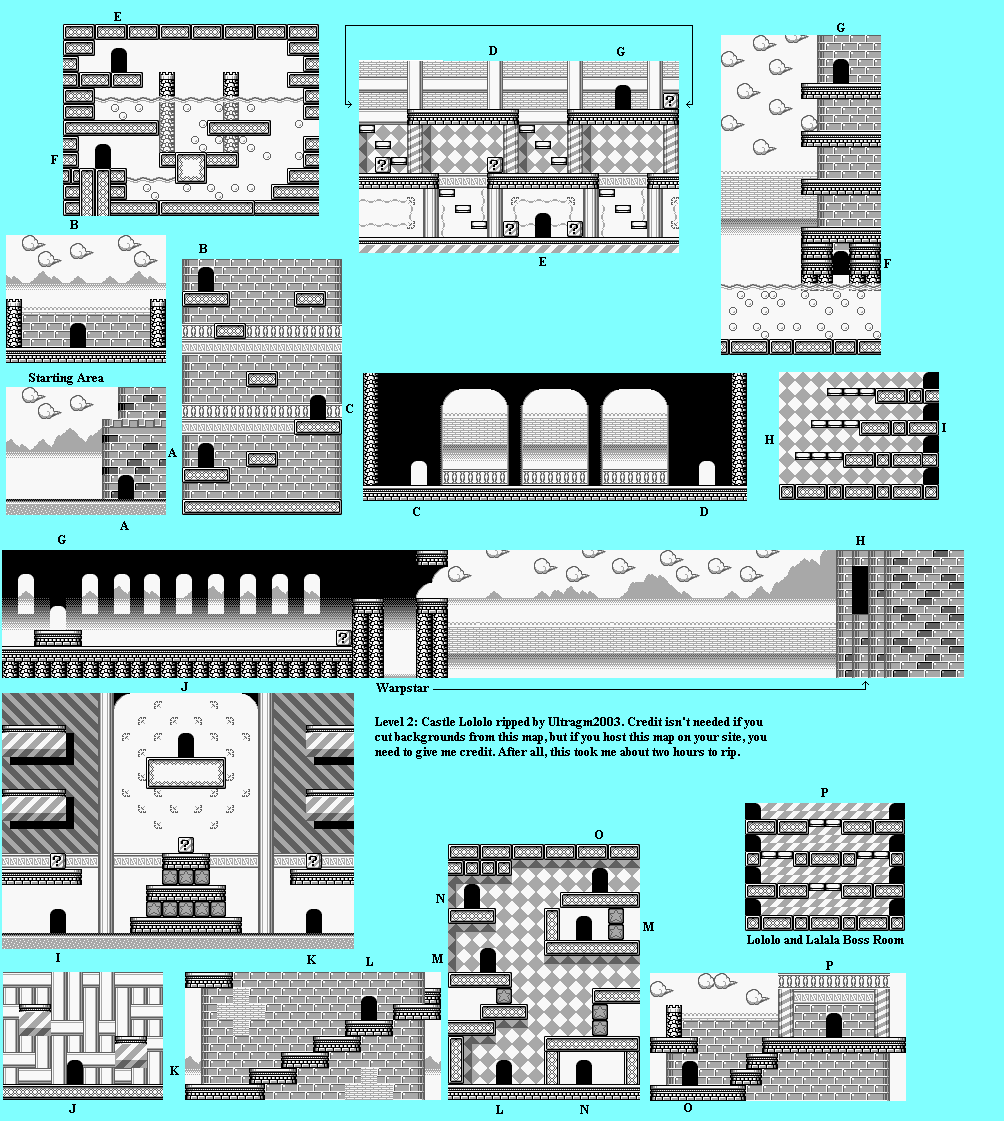 File:Kirby's Dream Land - GB - Map - Stage 2 - Castle Lololo ... on alexandria map, eclipse map, love map, america map, fiction map,