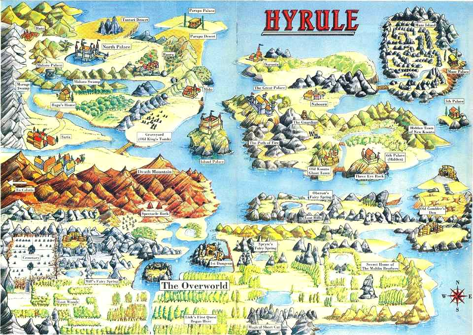 File:Legend of Zelda 2, The - Adventure of Link, The - NES - Map ...