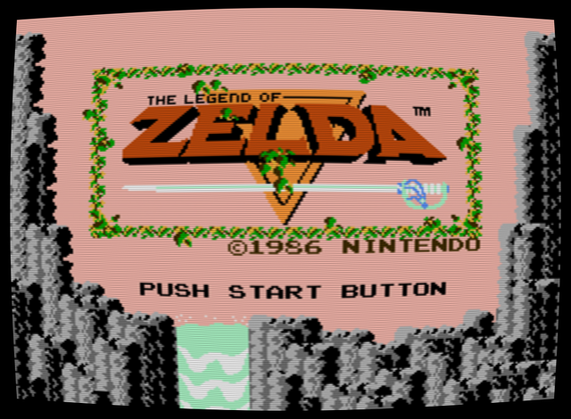 File:Legend of Zelda, The - NES - Screenshot - Title - Simulated CRT.png