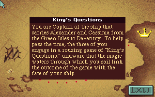 File:King's Questions - DOS - Screenshot - Intro.png