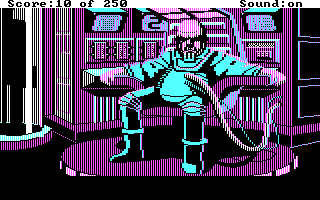 Space Quest II - Vohaul's Revenge - Screenshot - Vohaul - CGA Behind.png