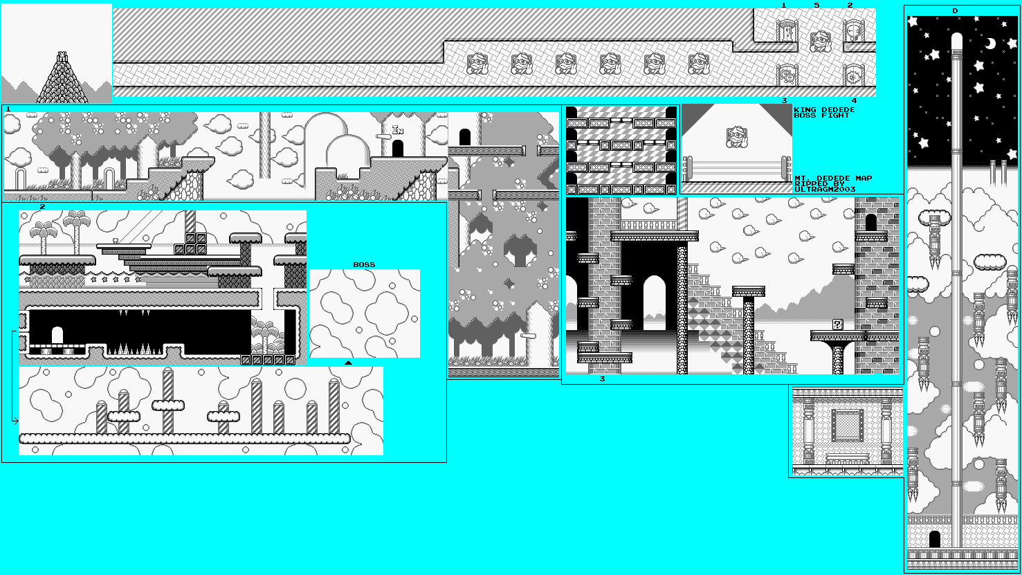 File:Kirby's Dream Land - GB - Map - Stage 5 - Mt. Dedede ... on alexandria map, eclipse map, love map, america map, fiction map,