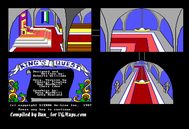 File:King's Quest - DOS - Map - Castle.png