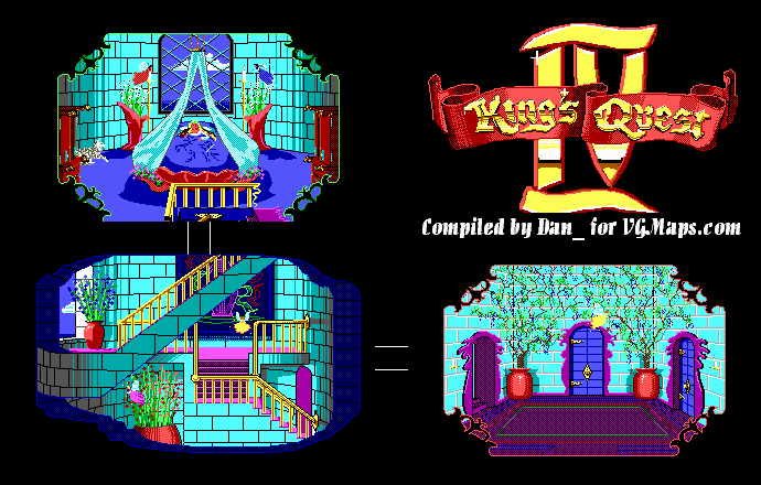 File:King's Quest IV - DOS - Map - Genesta's Palace - Day.png