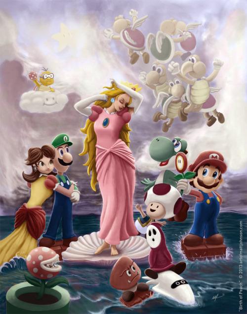 Filesuper Mario Bros Birth Of Peach Fan Artjpg
