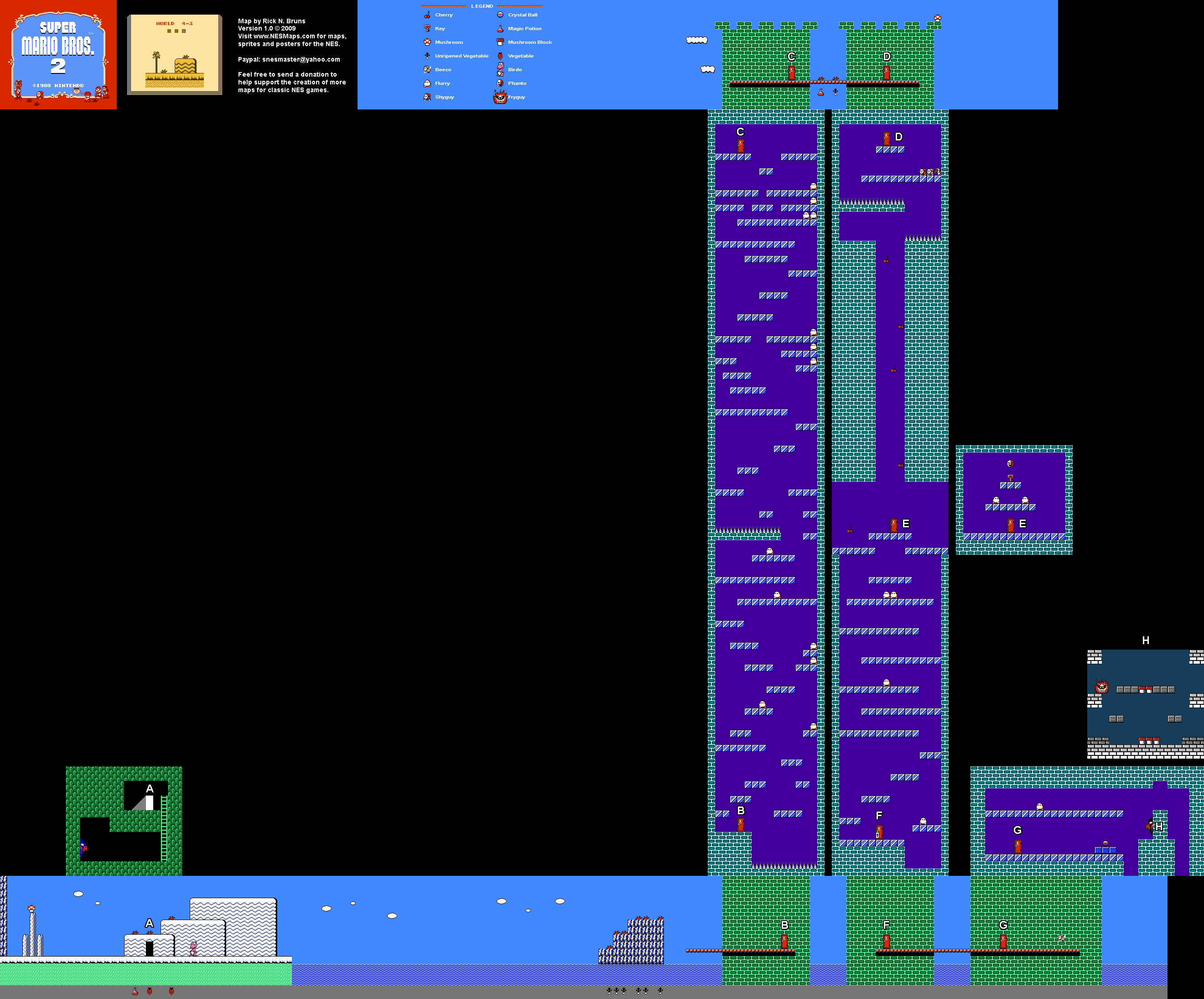 super mario bros nes map
