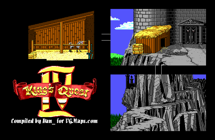 File:King's Quest IV - DOS - Map - Lolotte's Castle - Outside - Day.png