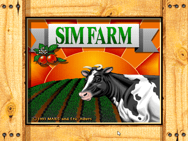 File:SimFarm - DOS - Screenshot - Title.png