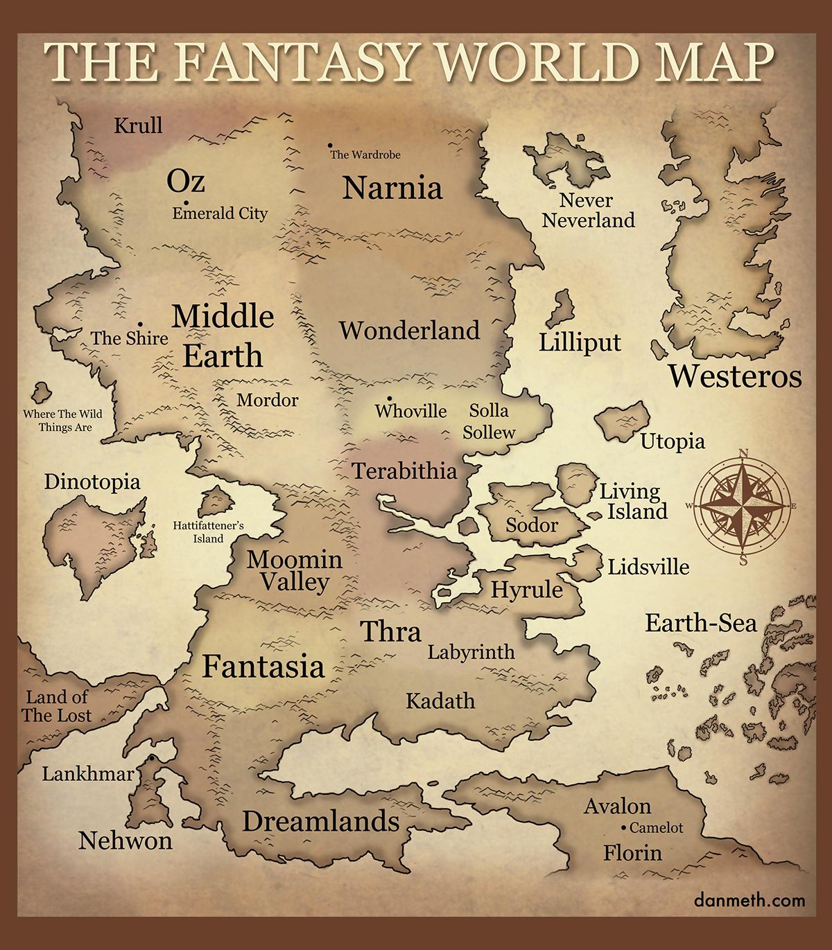 File:Dan Meth   The Fantasy World Map.png   TheAlmightyGuru