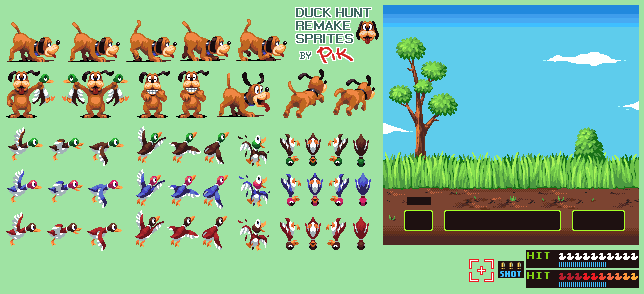 File:Duck Hunt - NES - Sprite Sheet Updated.png