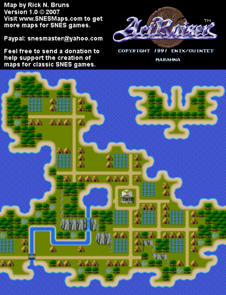 File:ActRaiser - SNES - Map - Marahna City - Populated.png