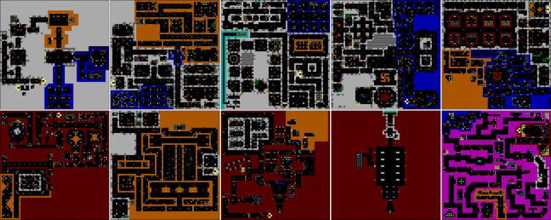 File:Wolfenstein 3D - DOS - Map - Episode 1.png