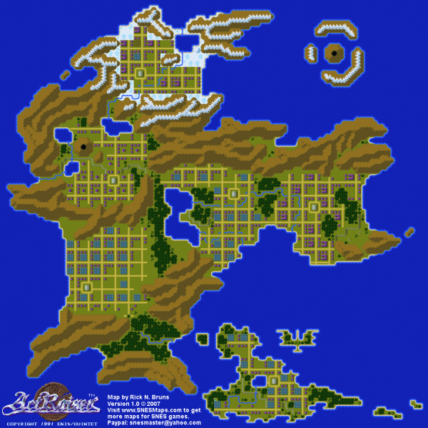 File:ActRaiser - SNES - Map - World - Populated.png