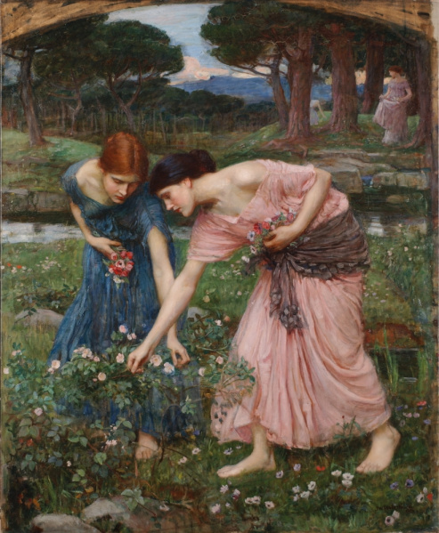 File:John William Waterhouse - 1909 - Gather Ye Rosebuds.jpg