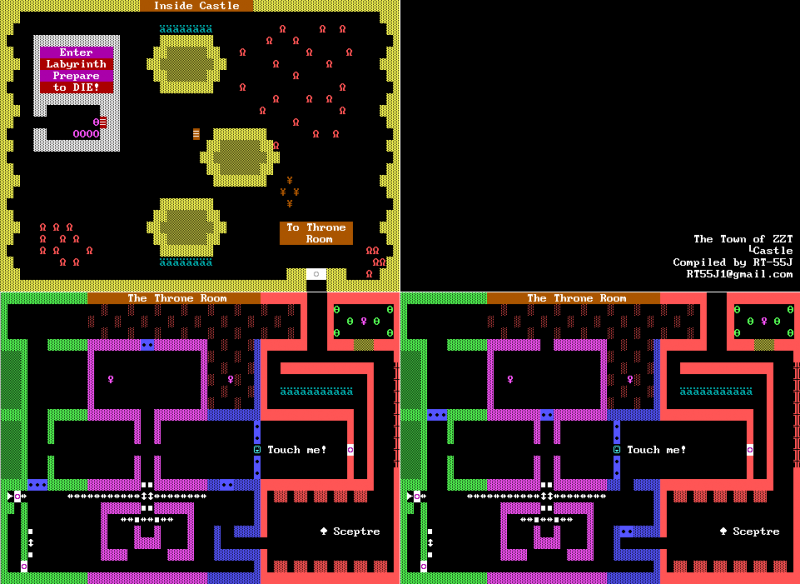 File:ZZT - DOS - Map - Town - Castle.png