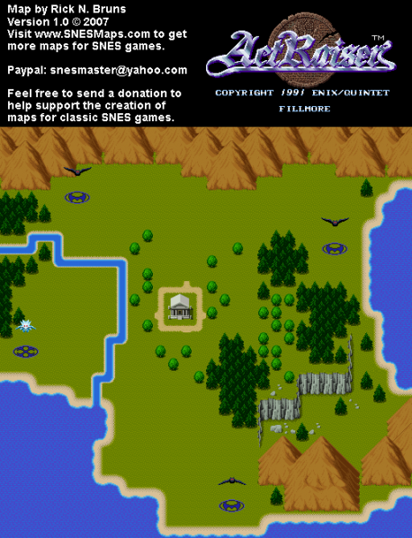 File:ActRaiser - SNES - Map - Fillmore City - Unpopulated.png