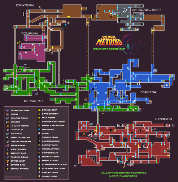 File:Super Metroid - SNES - Map.png