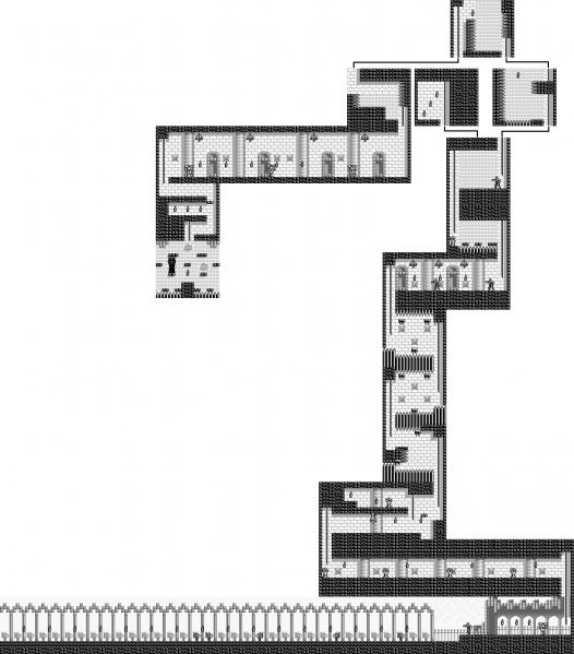 File:Castlevania - Adventure, The - GB - Map - Stage 4.png