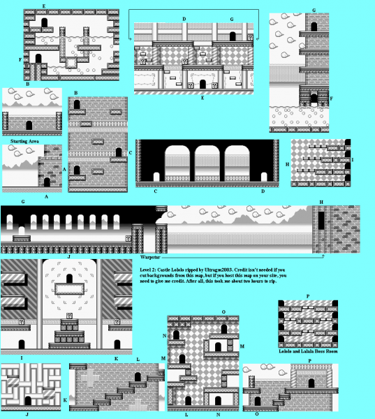 File:Kirby's Dream Land - GB - Map - Stage 2 - Castle Lololo.png