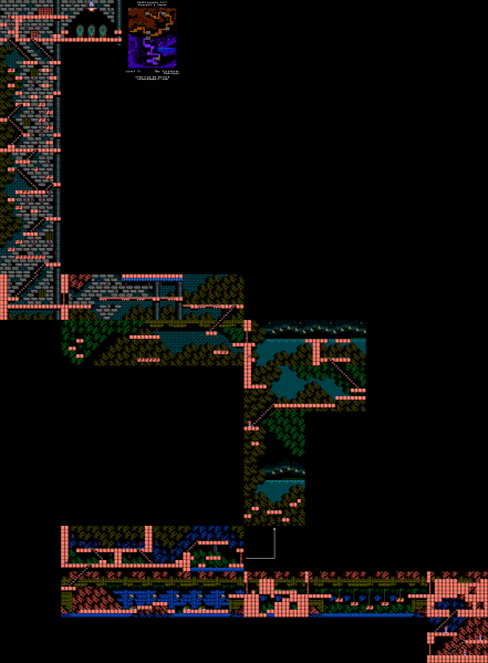 File:Castlevania III - Dracula's Curse - NES - Map - 7-2 - Cliffside Entrance.png
