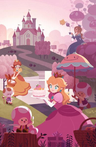 File:Super Mario - Fan Art - Hans Tseng - Princesses (remix).png