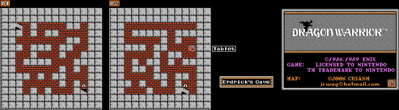 File:Dragon Warrior - NES - Map - Erdrick's Cave.png