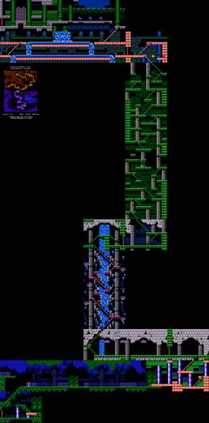 File:Castlevania III - Dracula's Curse - NES - Map - 9 - Inner Halls.png