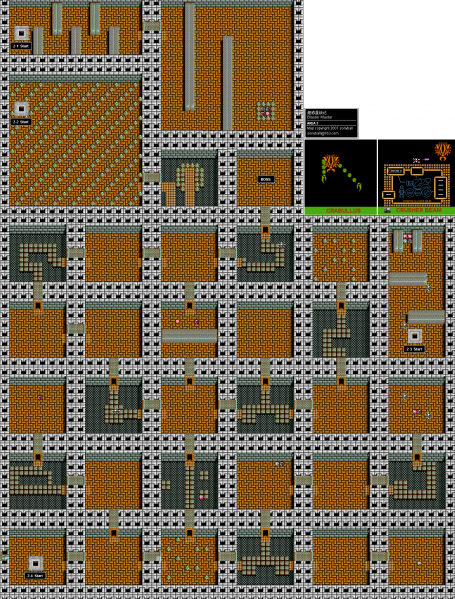 File:Blaster Master - NES - Map - Area 2 - Interiors.png