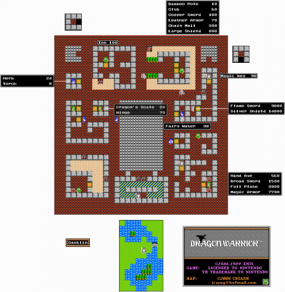 File:Dragon Warrior - NES - Map - Cantlin.png