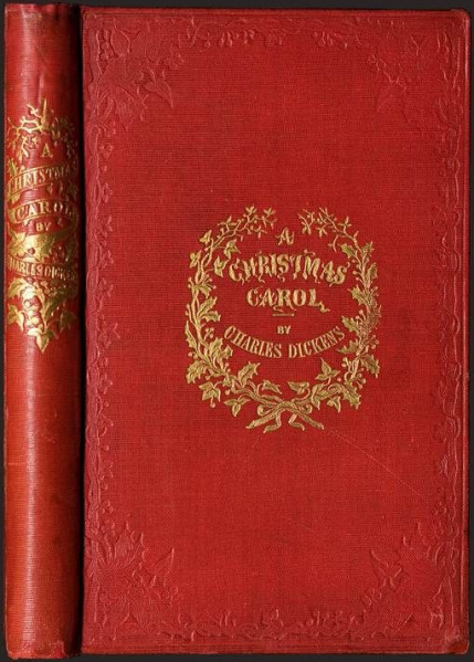 File:Christmas Carol, A - Hardcover - UK - First Edition - Case.jpg