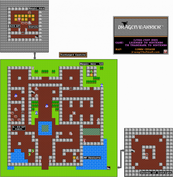 File:Dragon Warrior - NES - Map - Tantegel Castle.png