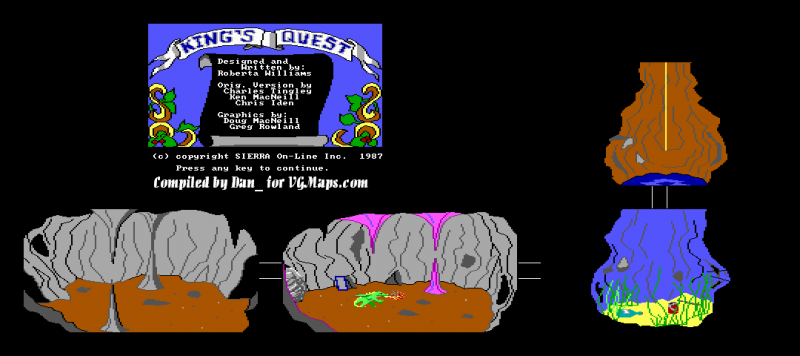 File:King's Quest - DOS - Map - Well.png