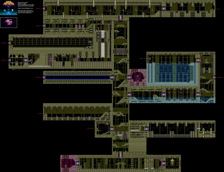 File:Super Metroid - SNES - Map - Wrecked Ship.png