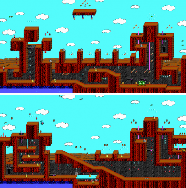 File:Commander Keen 4 - DOS - Map - Sand Yego.png