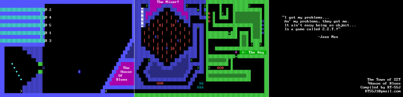 File:ZZT - DOS - Map - Town - House of Blues.png