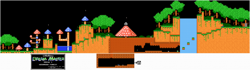 File:Little Nemo - The Dream Master - NES - Map - 1 - Mushroom Forest.png