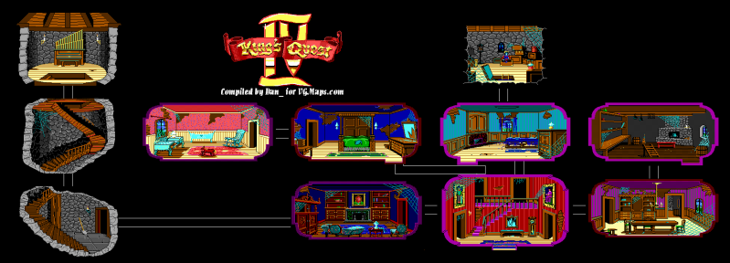 File:King's Quest IV - DOS - Map - Mansion.png