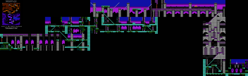 File:Castlevania III - Dracula's Curse - NES - Map - 7-1 - Castle Courtyard.png