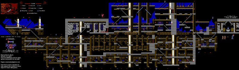File:Castlevania III - Dracula's Curse - NES - Map - 4-2 - Haunted Ship of Fools.png