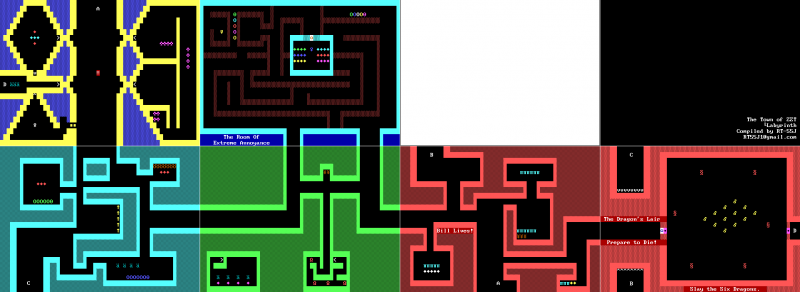 File:ZZT - DOS - Map - Town - Labyrinth.png