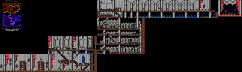 File:Castlevania III - Dracula's Curse - NES - Map - 8 - Main Hall.png