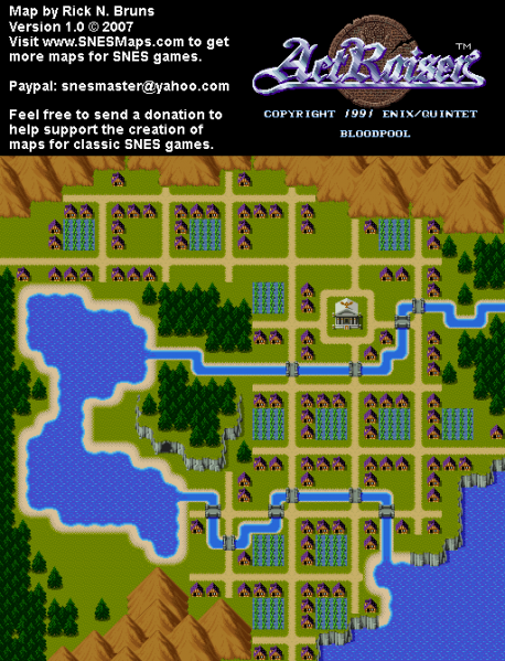 File:ActRaiser - SNES - Map - Bloodpool City - Populated.png