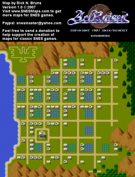File:ActRaiser - SNES - Map - Kasandora City - Populated.png